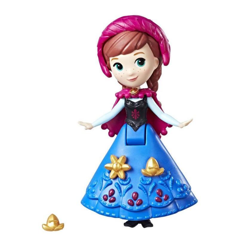 """Hasbro Disney Frozen """"Маленькое королевство"""" Мини-Кукла Анна в зимней накидке, Холодное Сердце"""