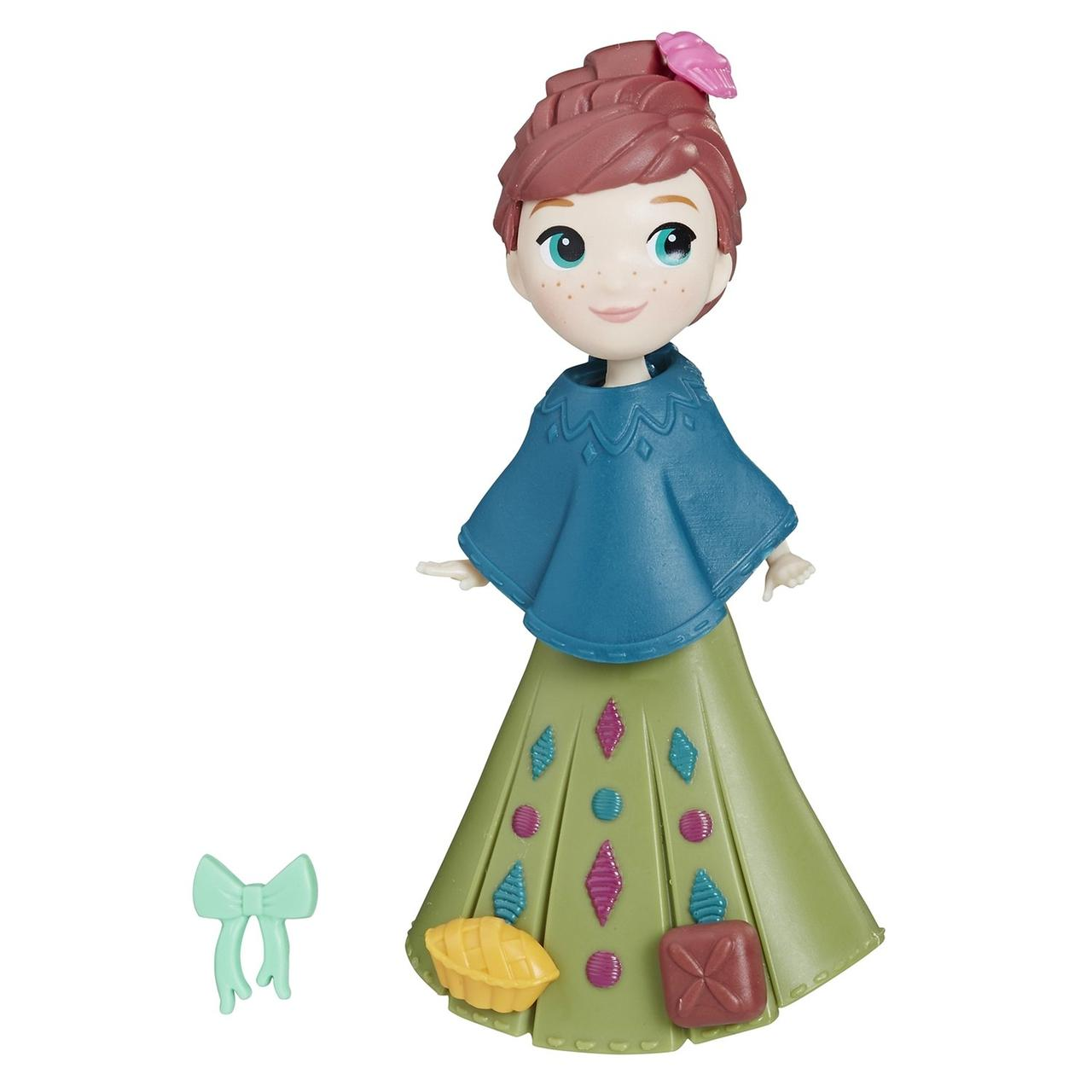 """Hasbro Disney Frozen """"Маленькое королевство"""" Мини-Кукла Анна в платье, Холодное Сердце"""