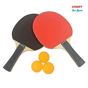 Набор для настольного тенниса HaoXin 2 ракетки, 3 шарика, фото 2