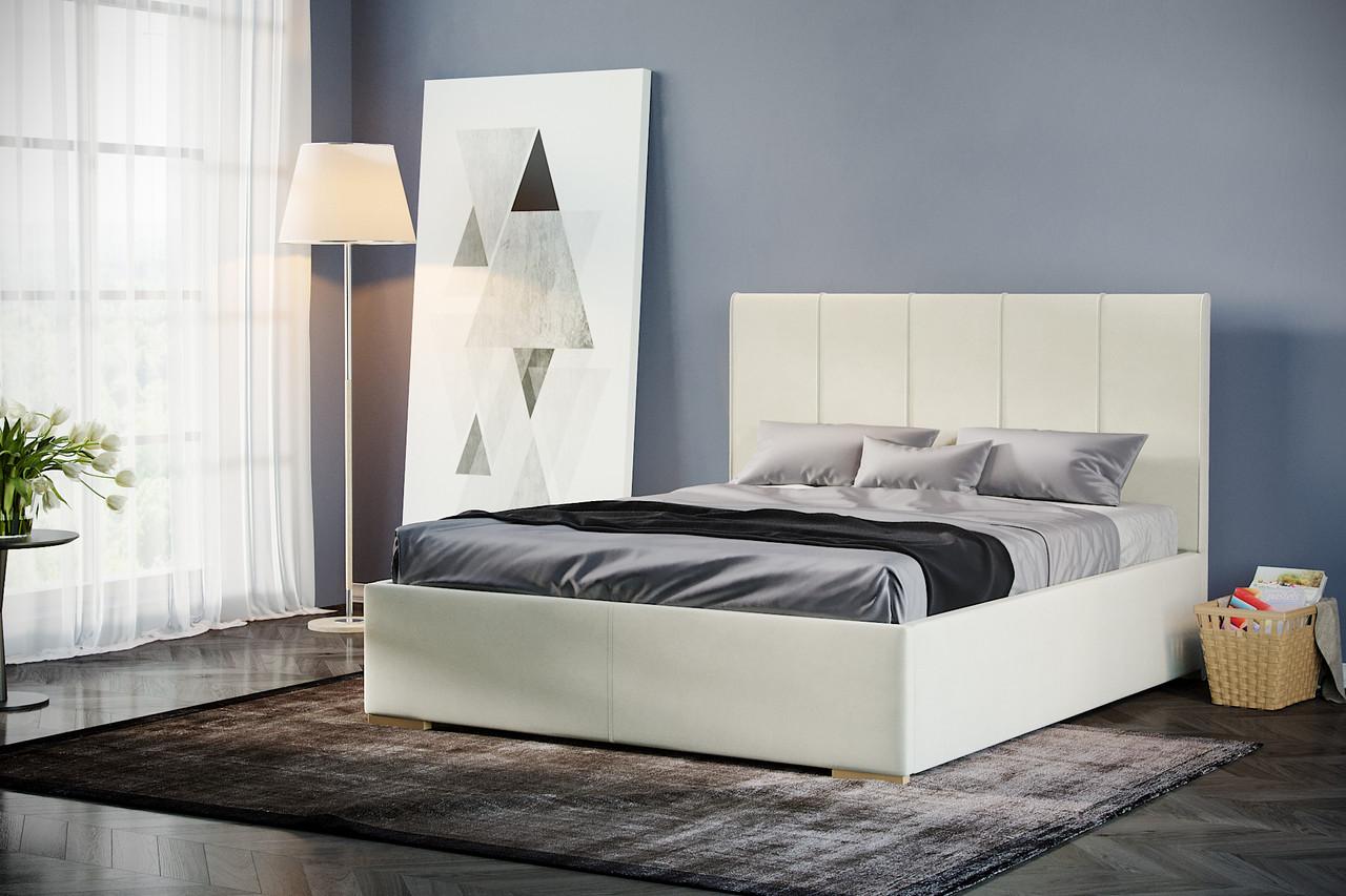 Кровать Шерона белый бархат