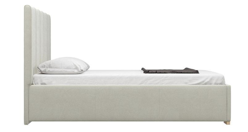 Кровать Шерона белый бархат, фото 2
