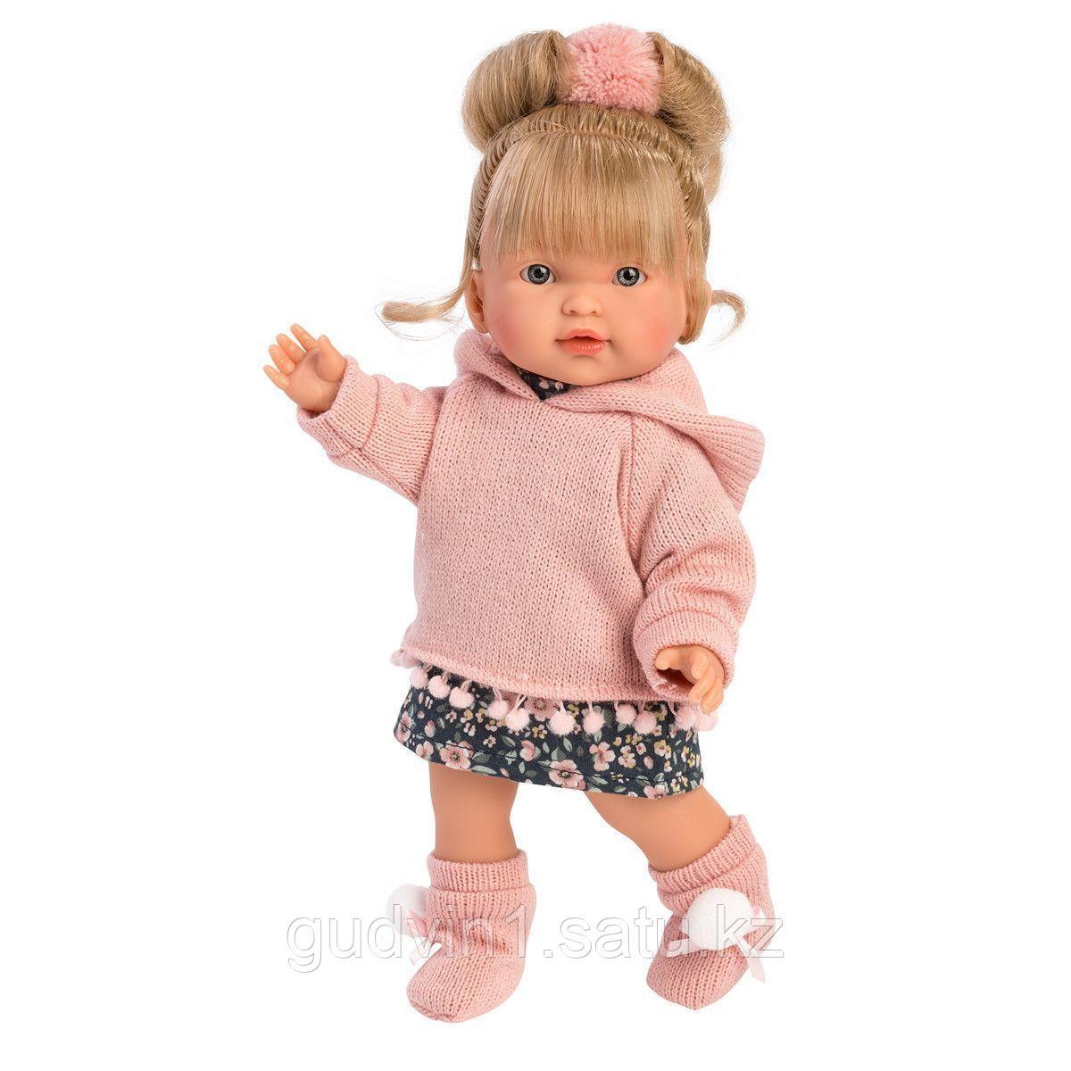 LLORENS: Кукла Валерия 28см, блондинка в розовой толстовке 1102607