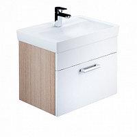 Тумба для ванной комнаты, подвесная, белая/под дерево,60см,Mirro,IDDIS MIR60W0i95