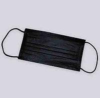Маски защитные для лица, на резинке, трехслойные ЧЕРНЫЕ уп. 50 шт. (Китай)