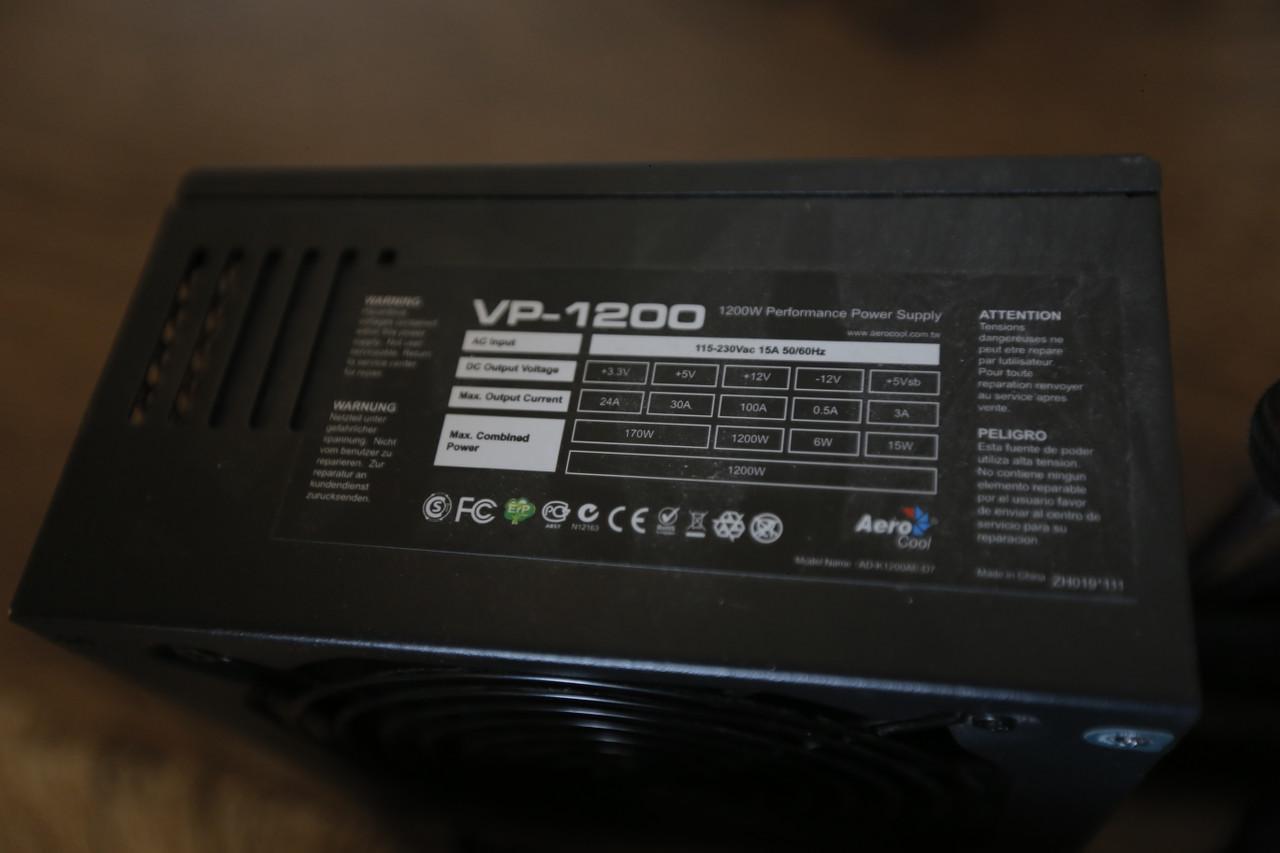 Блок питания Aerocool VP 1200W