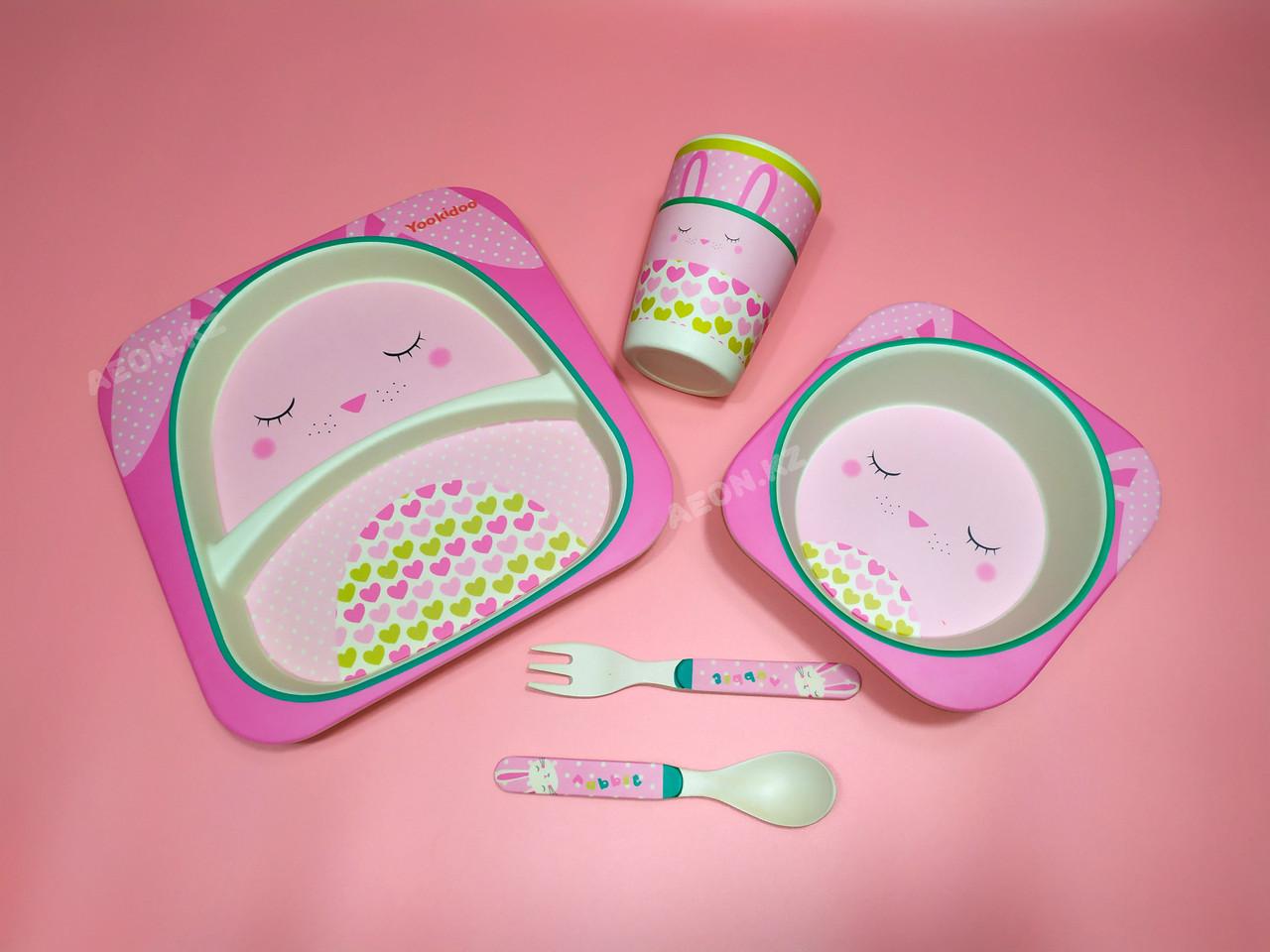 Бамбуковая посуда Зайка