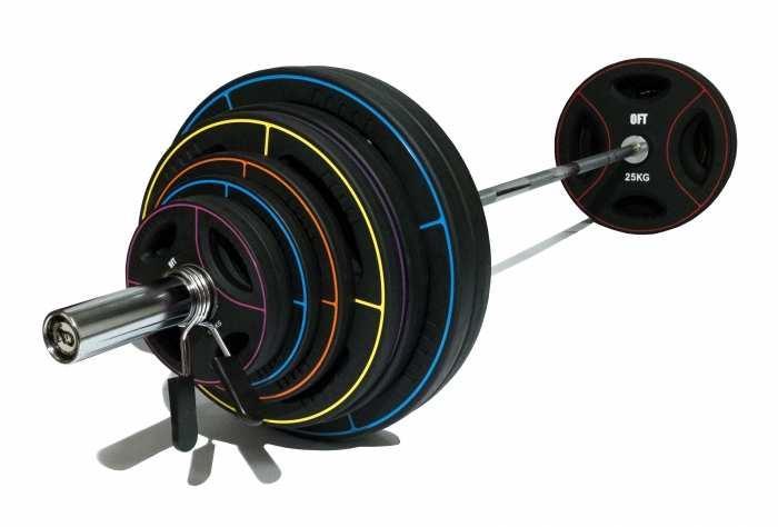 Олимпийская штанга 180 кг с дисками TPU