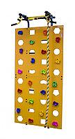 Скалодром к комплексу 1000*2000 стандарт ЭЛЬБРУС (20 зацепов) желтый с отверстиями