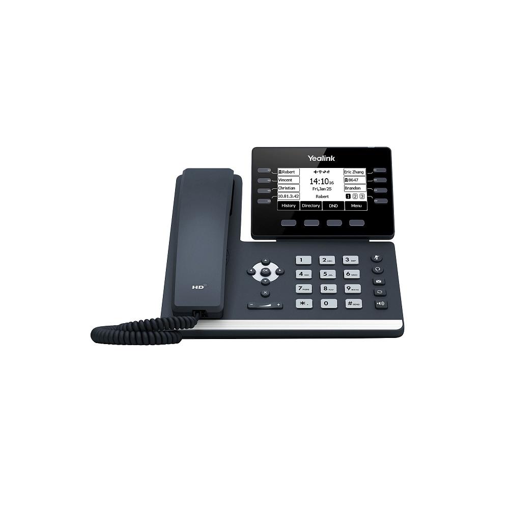 Yealink SIP-T53W SIP-телефон 12 аккаунтов, Wi-Fi, Bluetooth, Рое, без БП