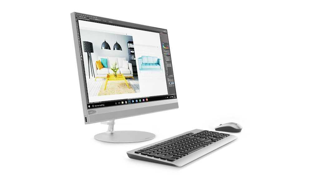 Моноблок Lenovo IdeaCentre AIO520-24ICB 23.8'' FHD(1920x1080)/Intel Core i3-8100T 3.10GHz Quad/8GB/1TB/Intel U