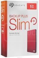 """USB 3.0 HDD External 2000Gb 2.5"""", Seagate Backup Plus Portable, red, metal design"""