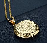 "Кулон-медальон для фото на цепочке ""Хамса"", фото 4"