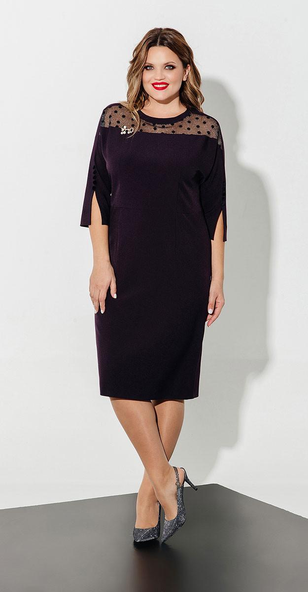Платье Olegran- Д-618, баклажан, 50