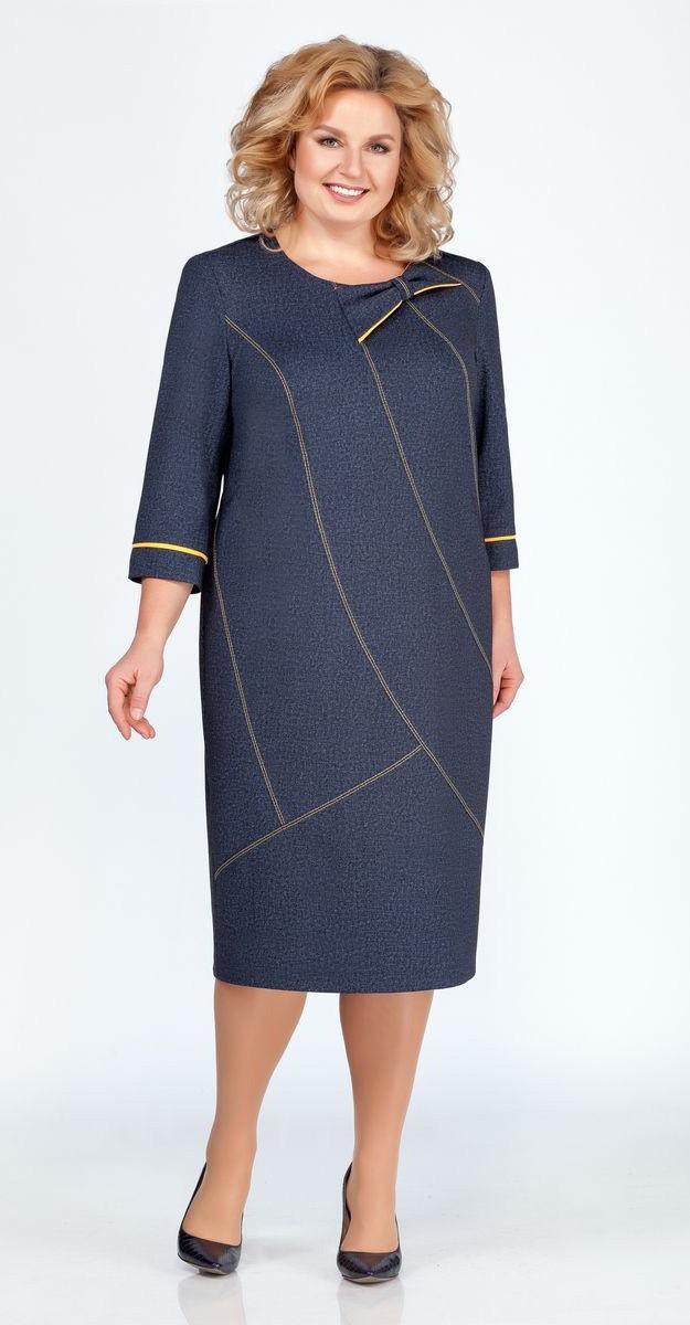 Платье Теллура-Л-1471, тёмно-синий, 54