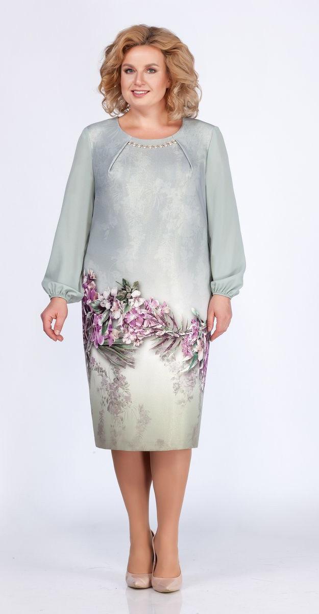 Платье Теллура-Л-1470, светлые тона, 56