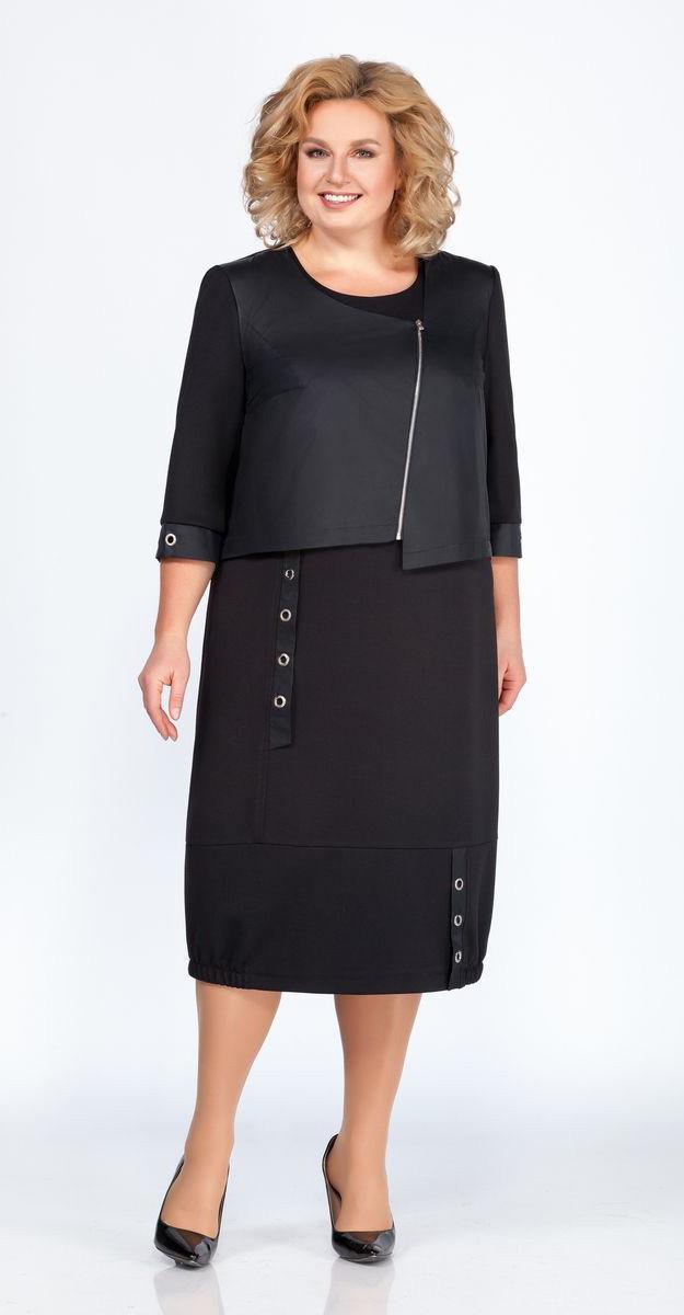 Платье Теллура-Л-1468, черный, 54