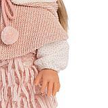 LLORENS: Кукла Елена 35см, блондинка в розовом костюме и шапке с двумя пумпонами 53525, фото 4