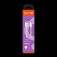Кабель ACME CB1011W USB - micro USB cable, 1m White