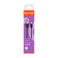 Кабель ACME CB1012 USB - micro USB cable, 2m Black