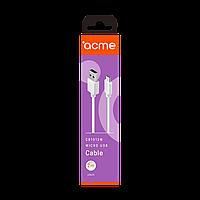Кабель ACME CB1012W USB - micro USB cable, 2m White
