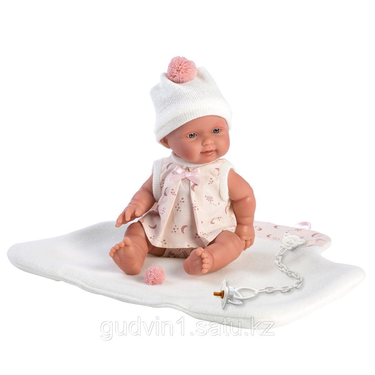 LLORENS: Пупс 26см в розовой распашонке, с одеялком 1102638