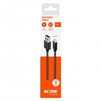Кабель ACME CB1031 USB - Lightning cable, 1m Black
