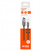 Кабель ACME CB2031G Lightning cable, 1m Grey