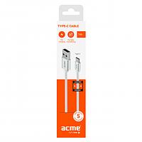 Кабель ACME CB2041S USB type-C cable, 1m Silver