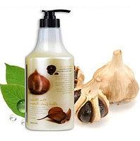 Увлажняющий шампунь с черным чесноком 3W Clinic More Moisture Black Garlic Shampoo 1.5 L