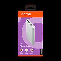 Пауэр банк ACME PB15S, 10000mAh micro USB Silver