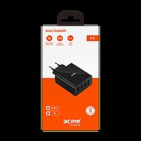 Зарядное устройство ACME CH207 wall charger AC100-240 V 5 A , 4 USB