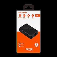 Зарядное устройство ACME CH208 wall charger AC100-240 V 8 A , 5 USB
