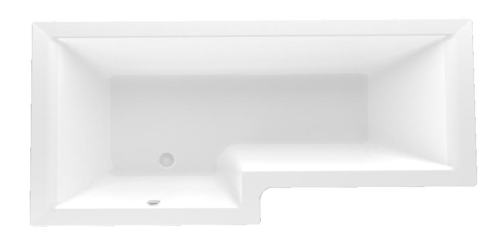 Акриловая ванна Marka One LINEA 165*85 (Левая) (Полный комплект) Ассиметричная. Угловая