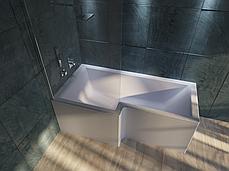 Акриловая ванна Marka One LINEA 165*85 (Левая) (Полный комплект) Ассиметричная. Угловая, фото 2