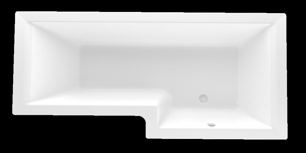 Акриловая ванна Marka One LINEA 165*85 правая (Полный комплект) Ассиметричная. Угловая