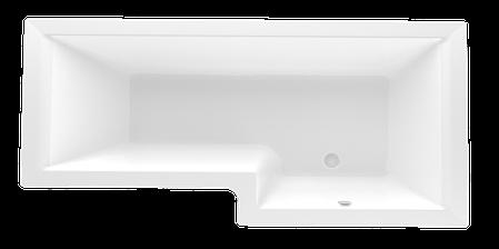 Акриловая ванна Marka One LINEA 165*85 правая (Полный комплект) Ассиметричная. Угловая, фото 2