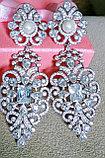 """Серьги с кристаллами """"Джессика"""" длинные, фото 4"""