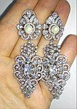 """Серьги с кристаллами """"Джессика"""" длинные, фото 7"""