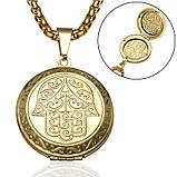 "Кулон-медальон для фото на цепочке ""Хамса"", фото 7"