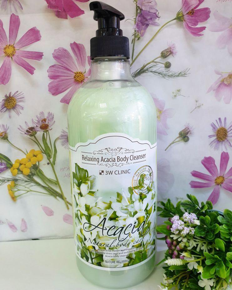 Гель для душа 3W Clinic Acacia Relaxing Body Cleanser 1000 ml.