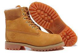 Ботинки зимние рыжие Tимбы