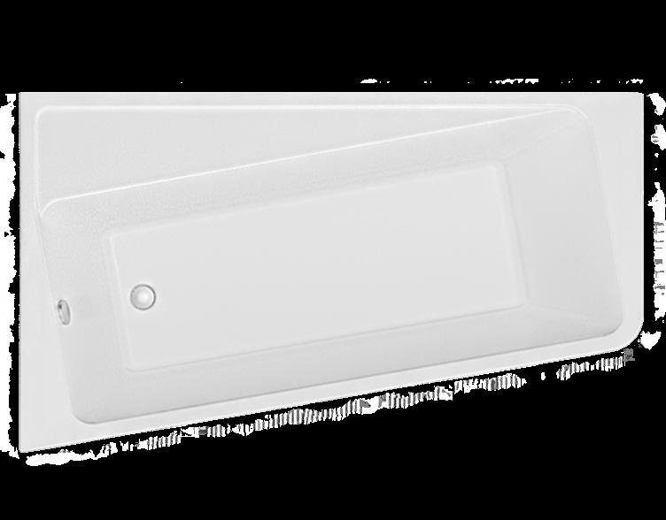 Акриловая ванна Marka One DIRECT 170*100 левая (Полный комплект) Ассиметричная. Угловая