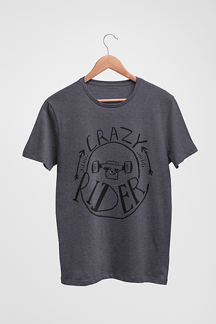 Футболка темно-серая - Crazy Rider, фото 2
