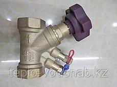 Клапан балансировочный Ду25 с измерительными ниппелями, фото 2