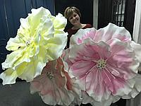 Ажурные цветы из пенопласта на заказ