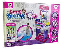 """W087 """"Little Doctor"""" мед набор в чемодане-трансформер,38деталей 43*61см, фото 1"""