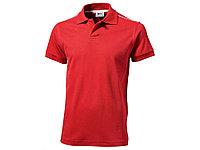 Рубашка-поло Backhand мужская, красный/белый