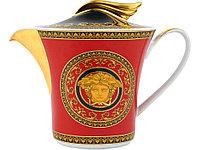 Чайник Versace Medusa, красный/золотистый