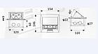 Напольный лючок на 4 модуля (плавное открывание) FEILIFU HTD-ZN-28L, фото 8