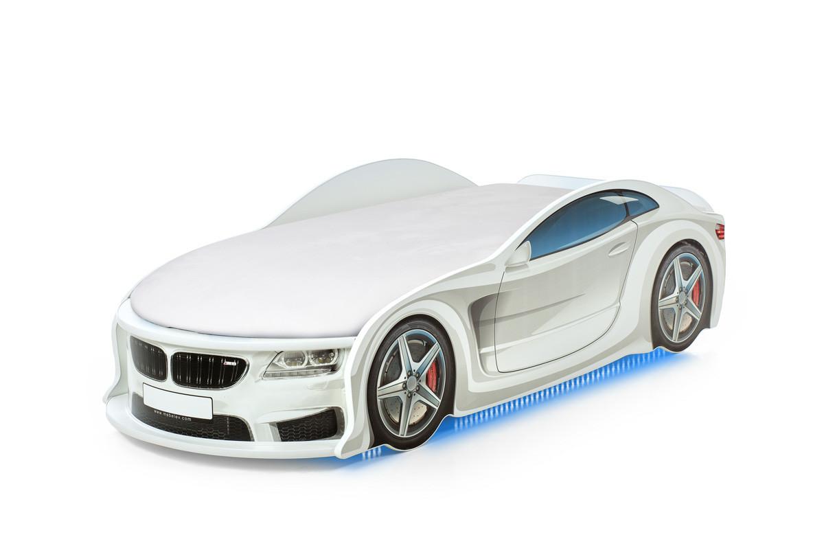 Кровать машина детская БМВ-М white
